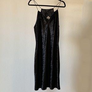Black Velvet Keyhole Strappy Dress